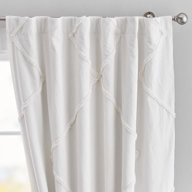 "Ashlyn Tufted Blackout Curtain, 84"", Ivory"
