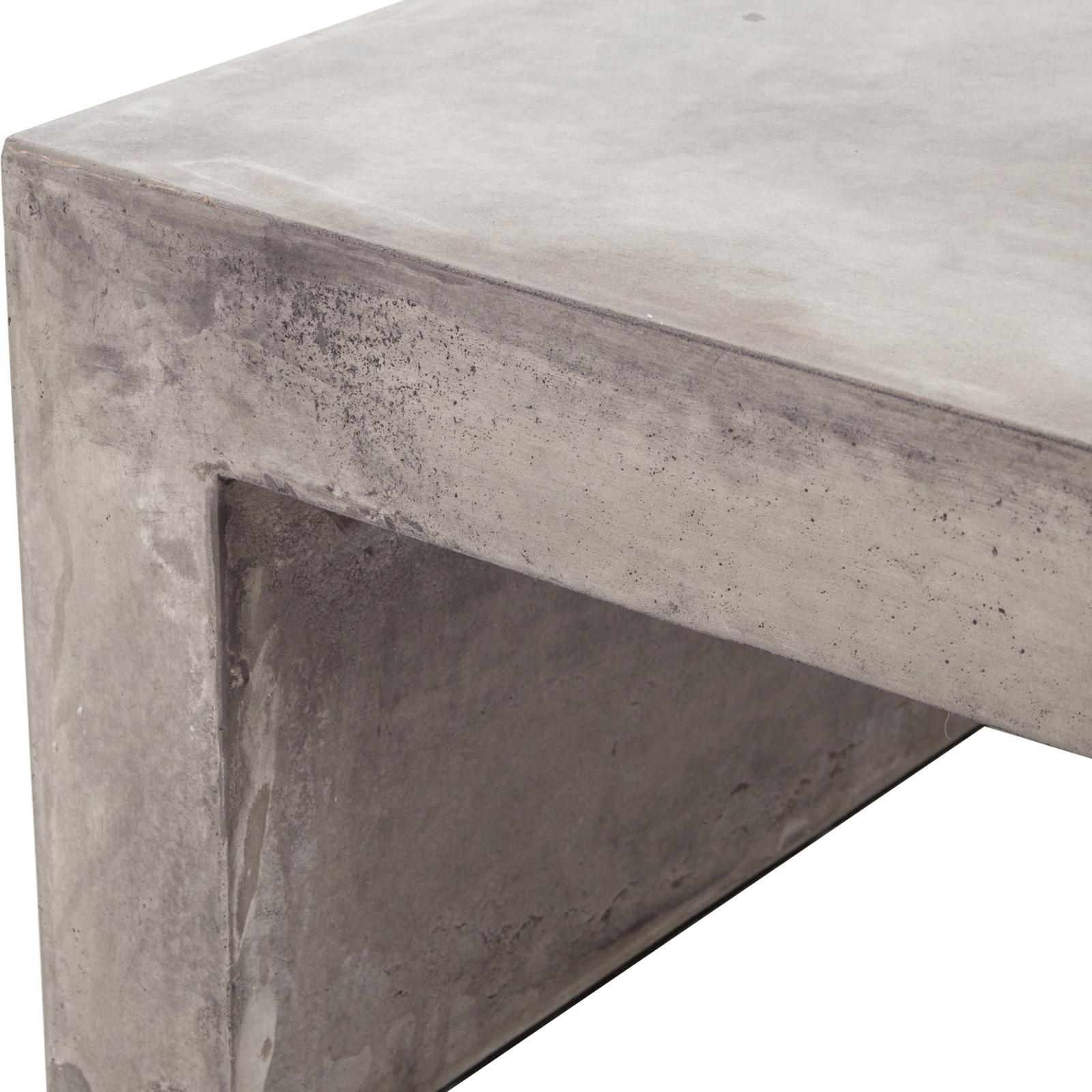 Hanz Industrial Loft Grey Block Concrete Coffee Table