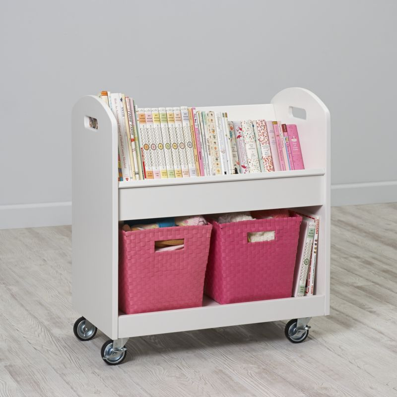 White Local Branch Library Cart
