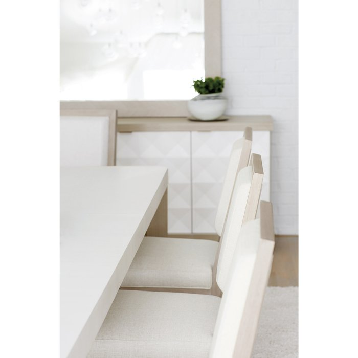 Lucille Modern Classic White Grey Wood Extendable Dining Table
