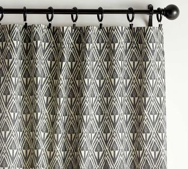 "Mitzi Print Blackout Curtain, Charcoal Multi, 84 x 50"""