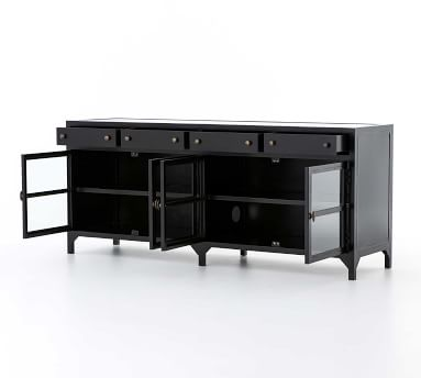 Harmon Metal Media Cabinet, Black