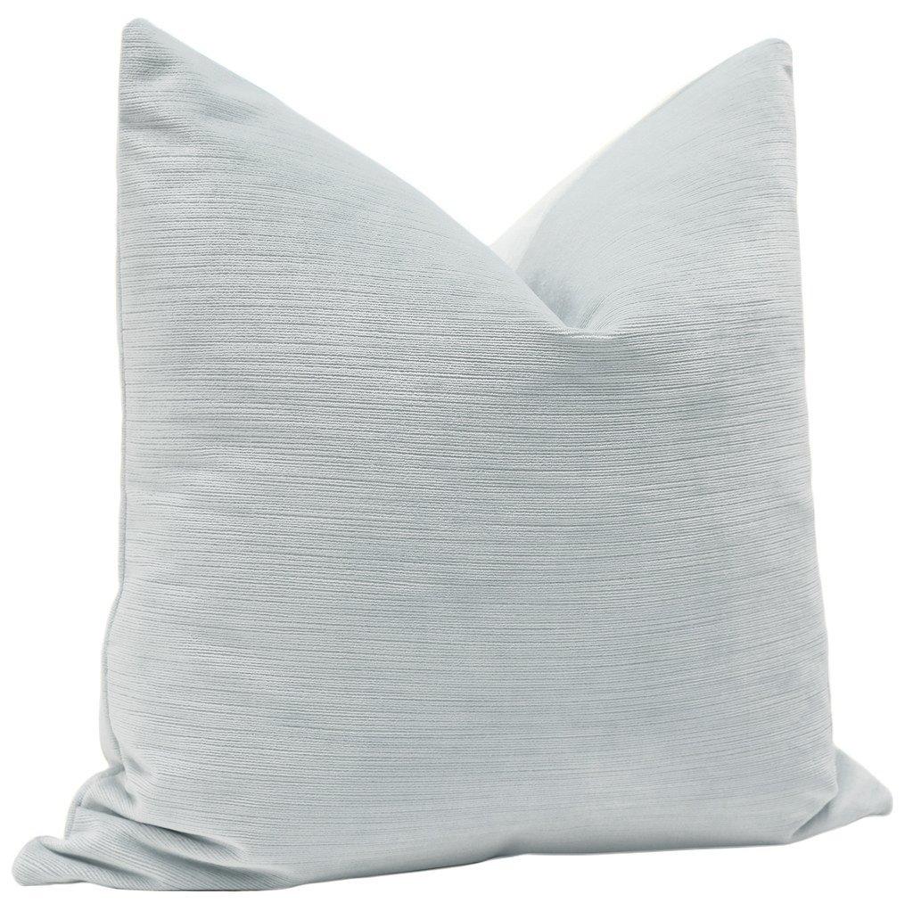 Strie Velvet // Mist  Pillow Cover- 18x18