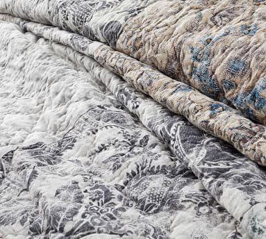 Tessa Patchwork Quilt, Full/Queen, Gray Multi