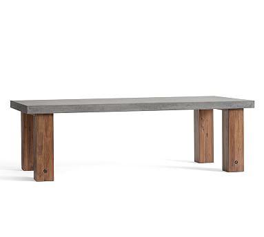 "Abbott Chunky Leg Concrete Table, 96"""