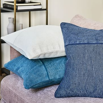 """Cotton Canvas Pillow Cover, Midnight, 18""""x18"""", Set of 2"""