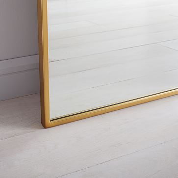 Metal Frame Mirror Arched Floor