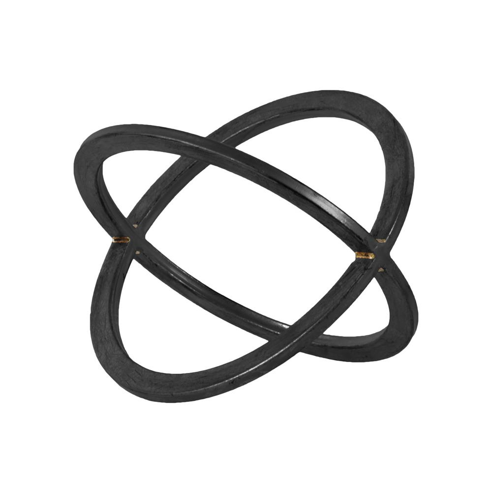 10.5 in. H Decorative Sculpture in Metallic Finish, Black