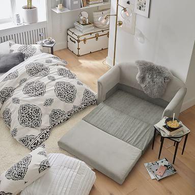 Ashton Sleeper Sofa, Everyday Velvet Gray
