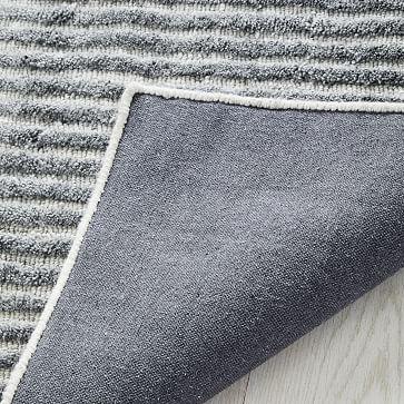 Terra Stripes Rug, Slate, 8'x10'