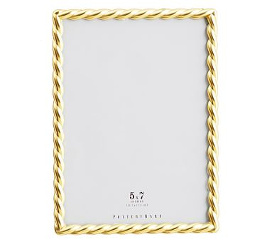 """Rope Plated Frame, Gold - 5 x 7"""""""