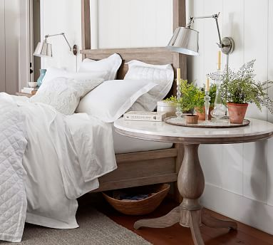 Farmhouse Canopy Bed, King, Charcoal
