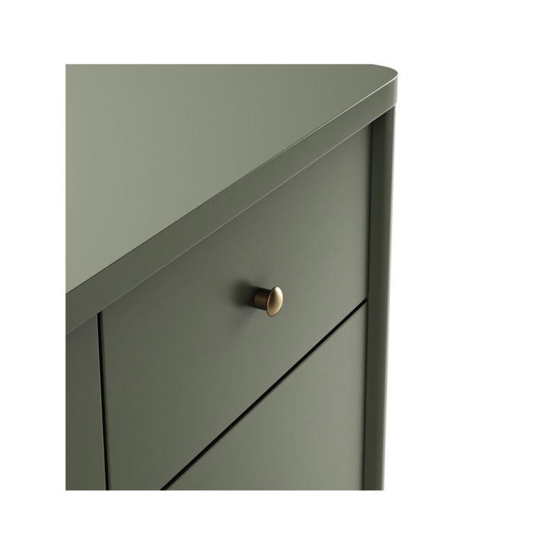 Hampshire 4-Drawer Olive Green Dresser