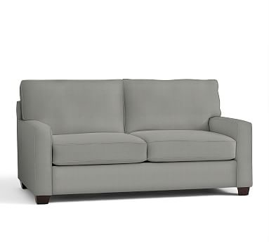 """Buchanan Square Arm Upholstered Loveseat 77.5"""", Polyester Wrapped Cushions, Performance Everydaysuede(TM) Metal Gray"""