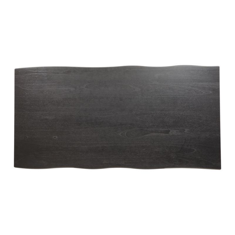 "Verge 100"" Black Live Edge Dining Table"