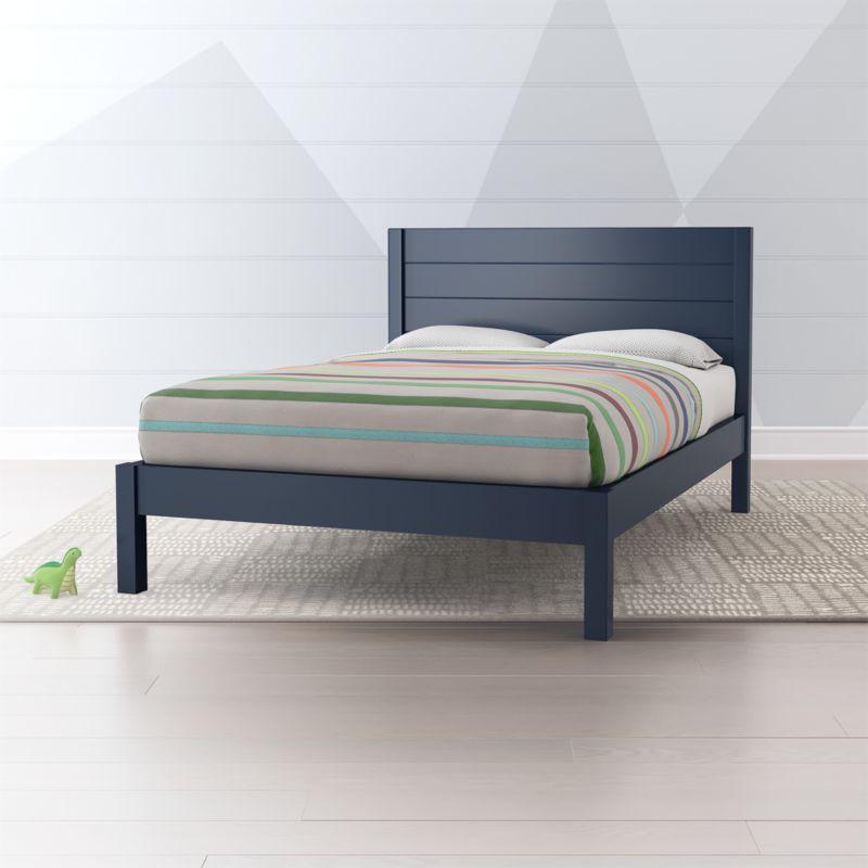 Parke Navy Blue Full Bed