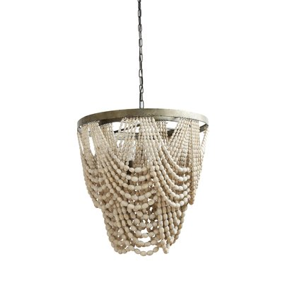 Hatfield Metal/Wood 3-Light Novelty Chandelier