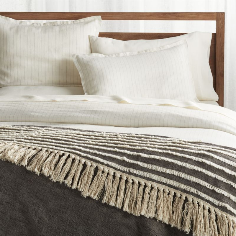 Corlett Grey and White Blanket