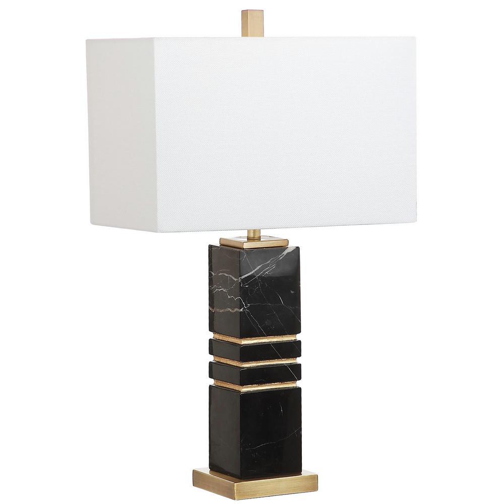 Safavieh Jaxton Marble 27.5 in. Black/Gold Table Lamp