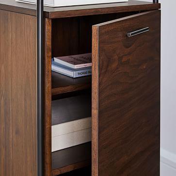 Foundry Narrow Bookcase, Dark Walnut