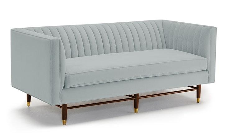Blue Chelsea Mid Century Modern Apartment Sofa - Origin Mist - Medium