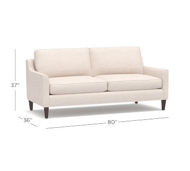 """Beverly Upholstered Loveseat 56"""", Polyester Wrapped Cushions, Performance Twill White"""