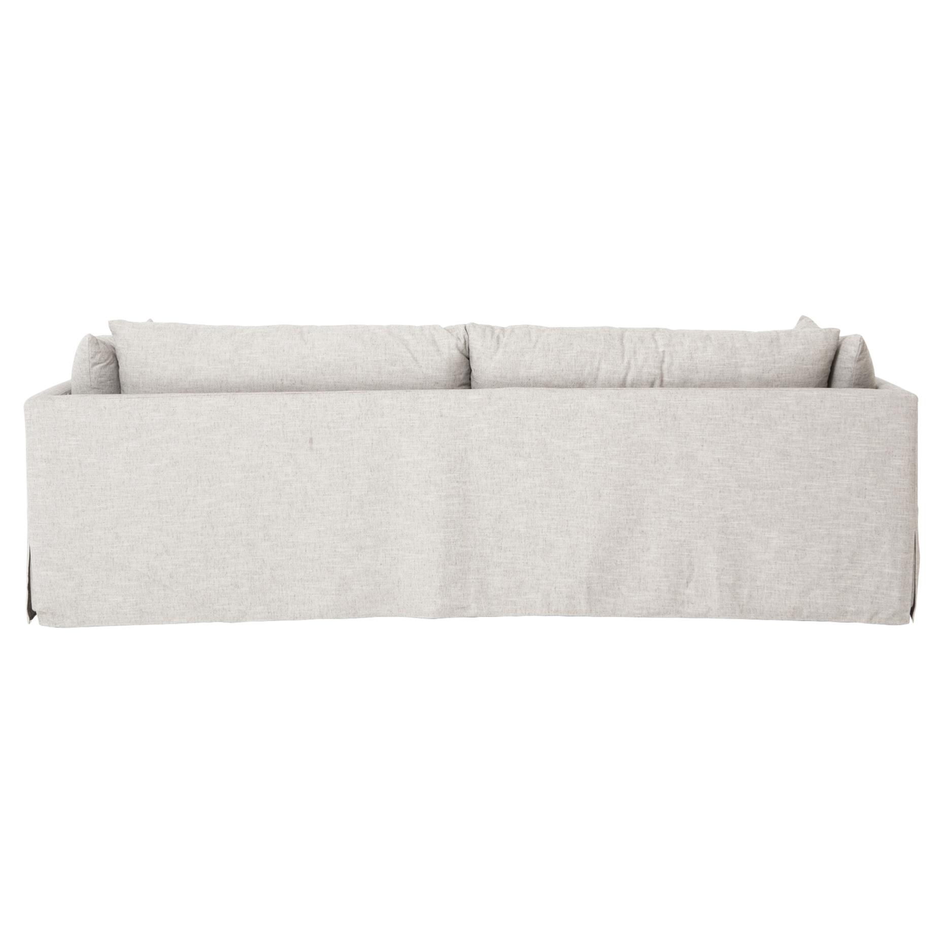 "Alexa Modern Classic Light Grey Upholstered Sofa - 90"""