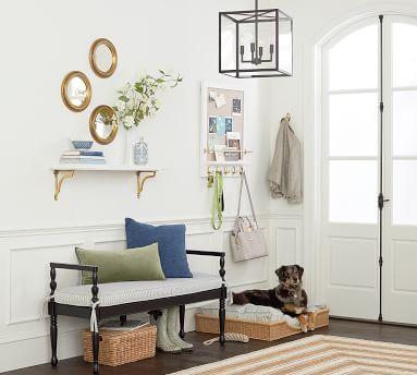 Manor Indoor/Outdoor Pendant, Bronze/Glass