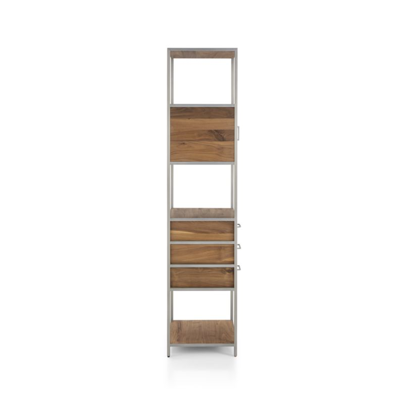 Knox Nickel Tall Narrow Storage Bookcase