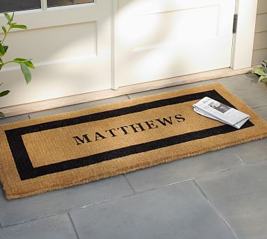 """Personalized Extra-Large Doormat, 30 x 48"""", Black"""