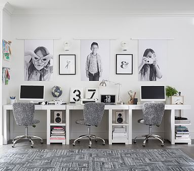 Parsons Utility Shelf Desk, Simply White, Standard UPS Delivery