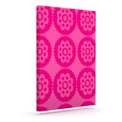 'Moroccan Hot Pink' Graphic Art Print on Canvas