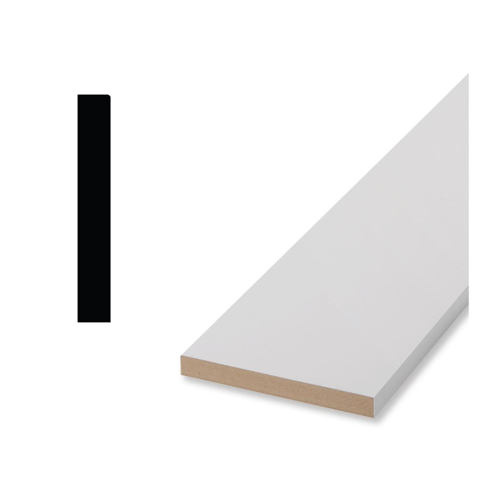 Woodgrain Millwork Timeless Craftsman 65E1 6-1/2 in. x 11/16 in. x 96 in. Primed MDF Base Moulding, White