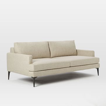 Andes 2.5 Seater Sofa, Distressed Velvet, Olive, Blackened Brass