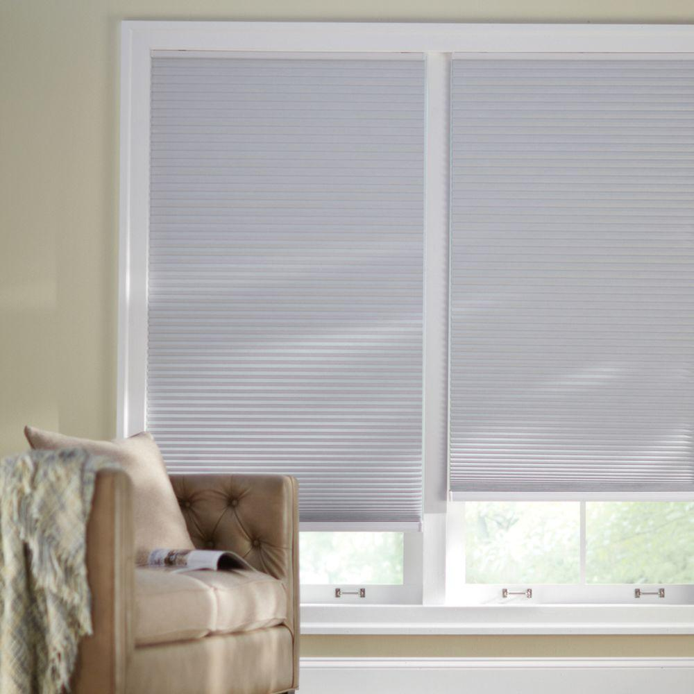 Home Decorators Collection Shadow White 9/16 in. Blackout Cordless Cellular Shade - 61.5 in. W x 48 in. L (Actual Size 61.125 in. W x 48 in. L)