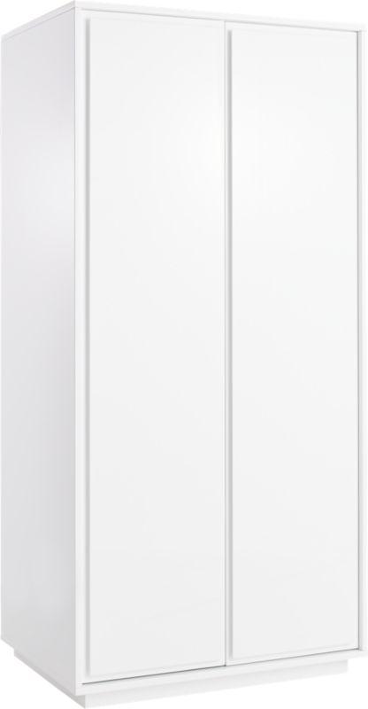 Gallery White 2-Door Wardrobe