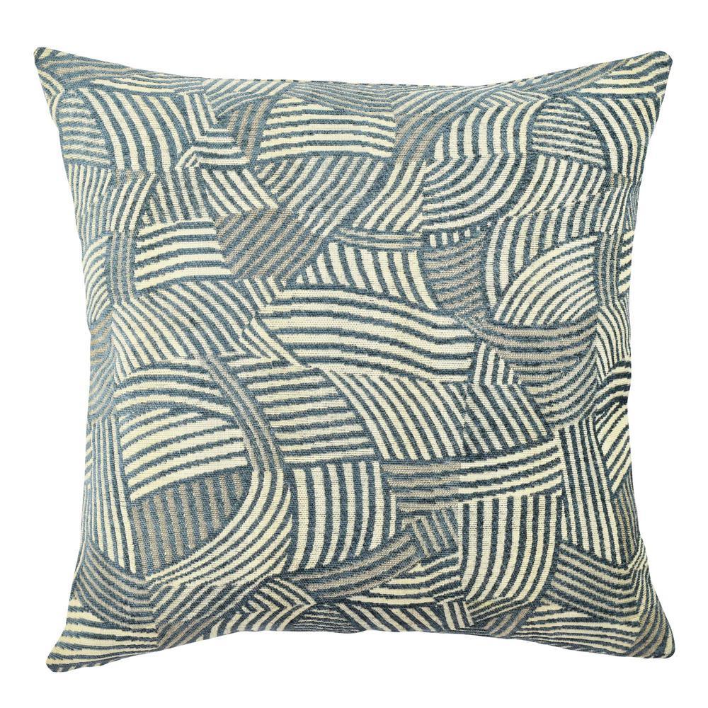 18 in. x 18 in. Scandinavian Blue Pillow