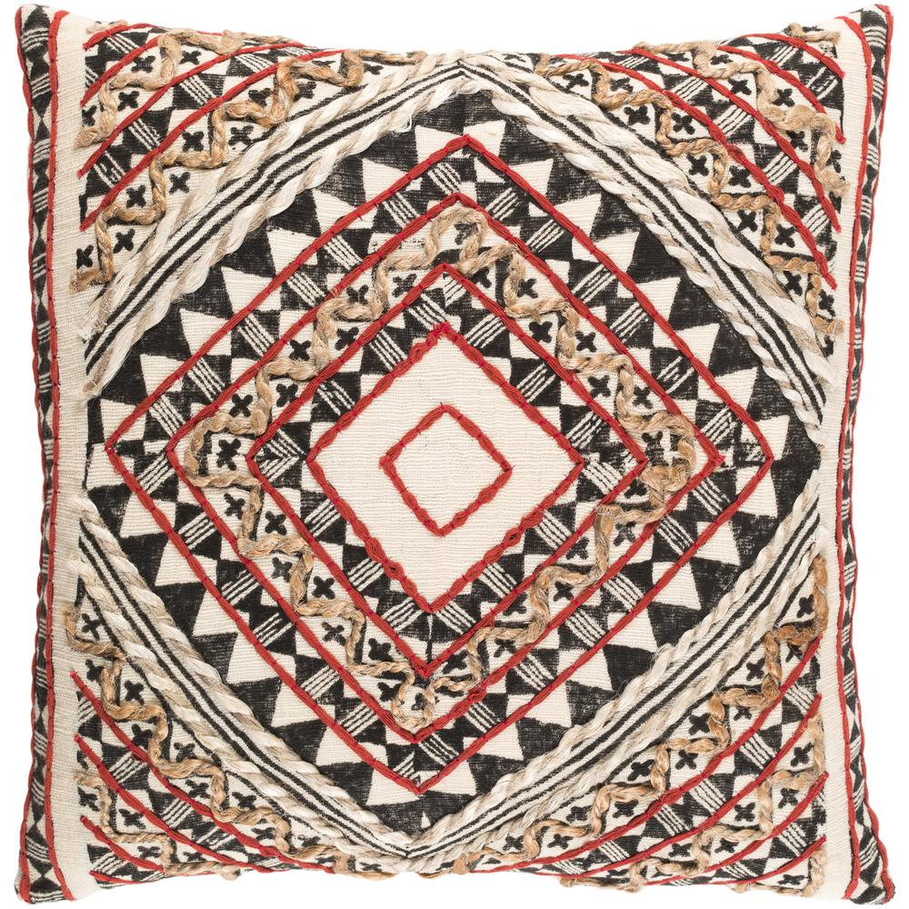 Wadham Poly Euro Pillow, Red