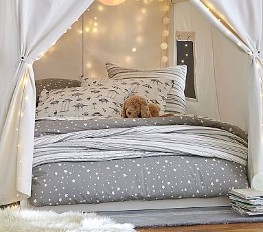 Tent Fantasy Bed, Full, Simply White, Standard UPS Delivery