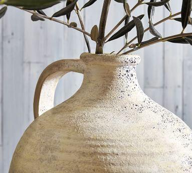 Artisan Vase, White, XL Jug