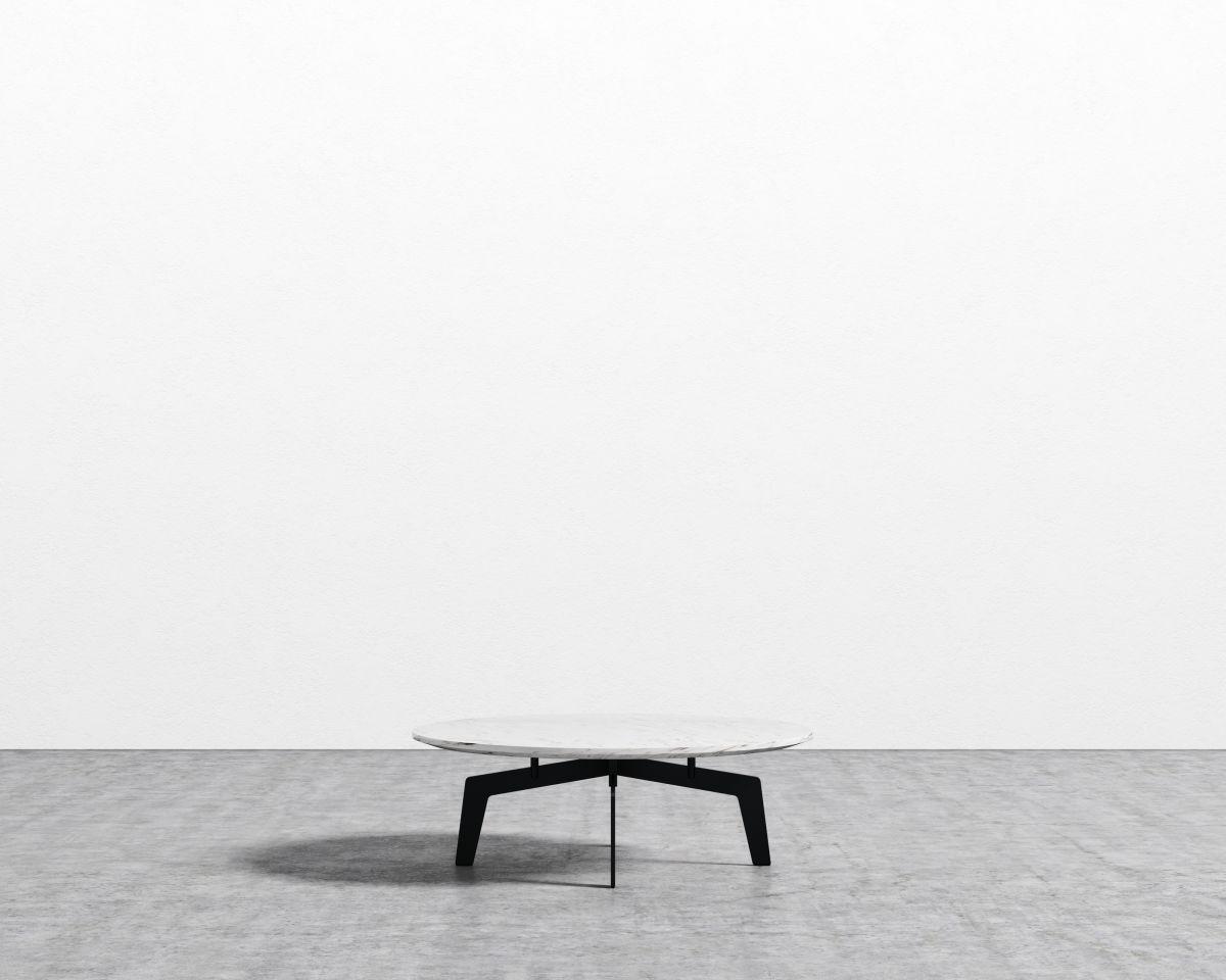 Evelyn Coffee Table - Round - Black White Carrara Marble