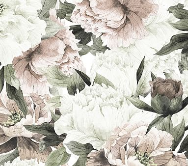 Anewall Blush Floral Temporary Wallpaper