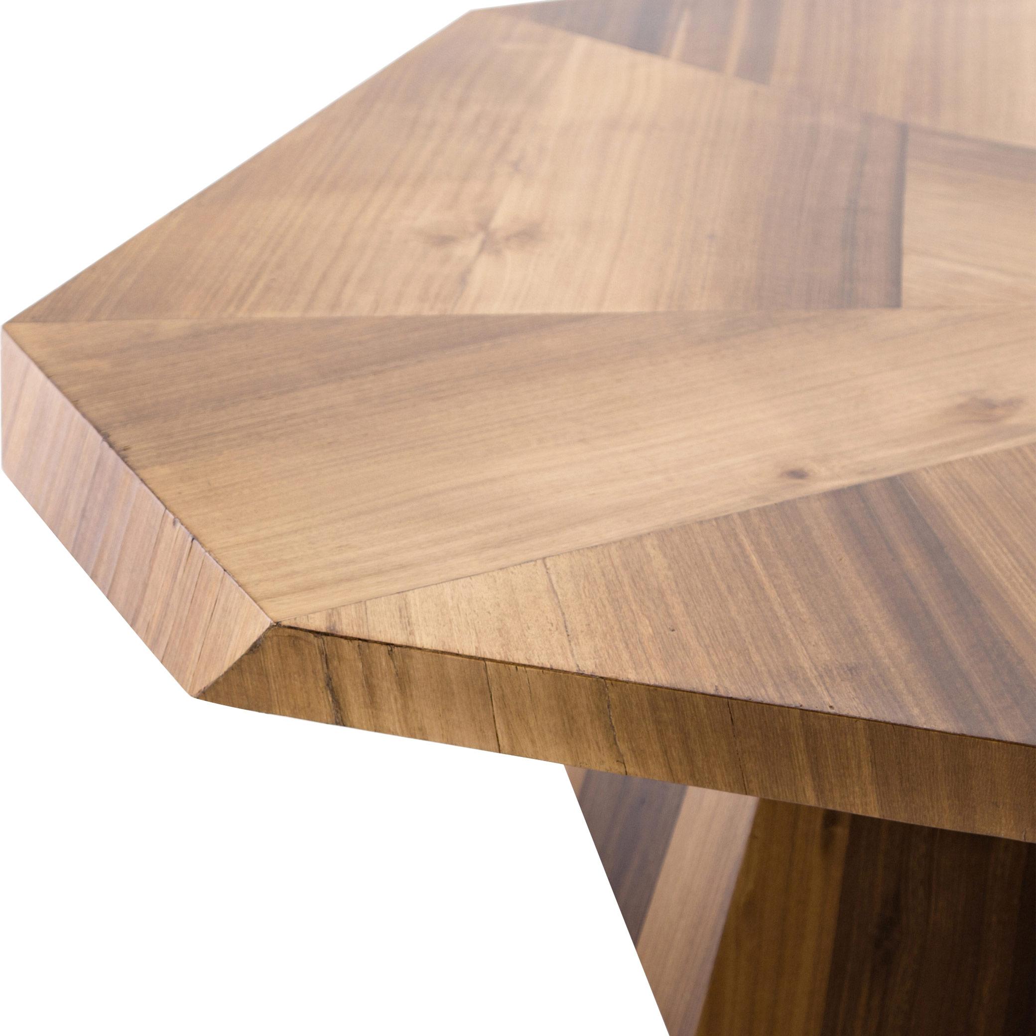 Colt Modern Geometric Blonde Yukas Wood Pedestal Coffee Table RESTOCK Mid September 2021
