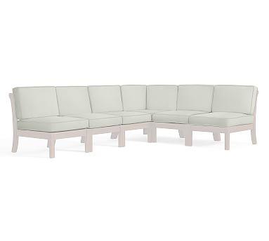 Universal 6-Piece Sectional Cushion Set (1 cnr + 5 armless), Sunbrella(R) Natural
