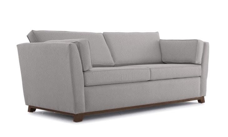 Gray Roller Mid Century Modern Sleeper Sofa - Taylor Felt Grey - Coffee Bean