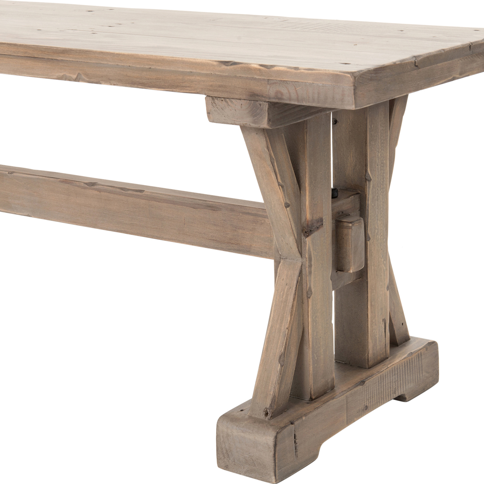 Padgett Rustic French Country Reclaimed Wood Dining Bench