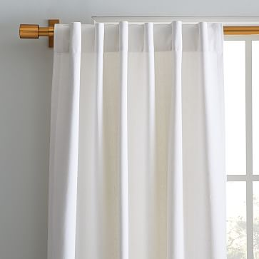 """Washed Cotton Canvas Curtain / Set of 2 / 48""""x108"""" / White"""