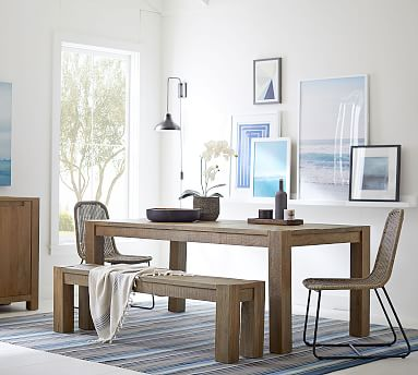 """West Parsons Dining Table, Tawny, 73"""" L x 39"""" W"""