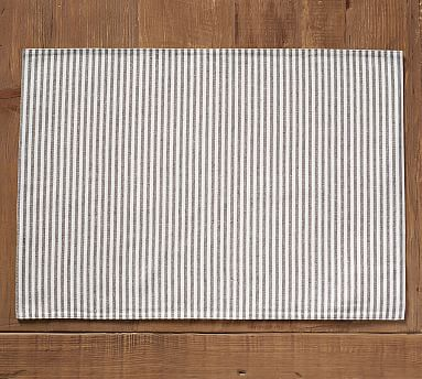 Wheaton Stripe Placemat, Set of 4 - Charcoal