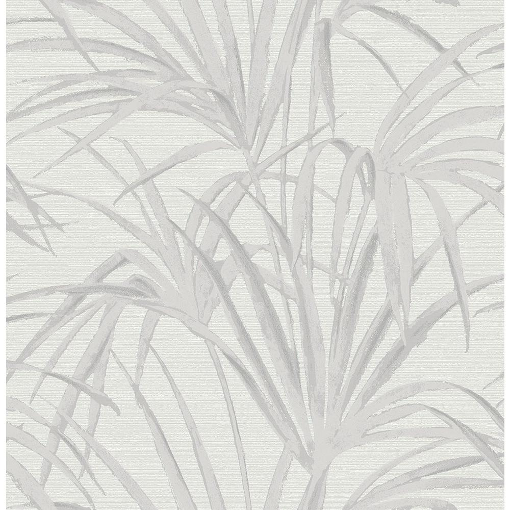 Reed Grey Palm Wallpaper